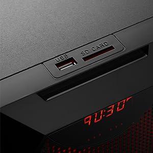 SD reader, usb port, media, media ports, FA Frisby Audio