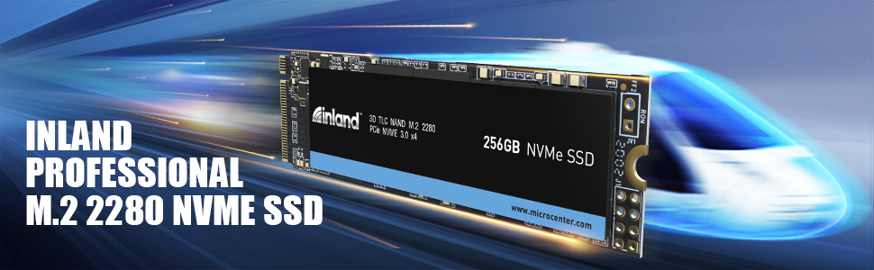Inland Professional 256GB NVMe SSD M.2 2280 PCIe Gen 3.0x4 3D NAND Internal Solid State Drive 256GB