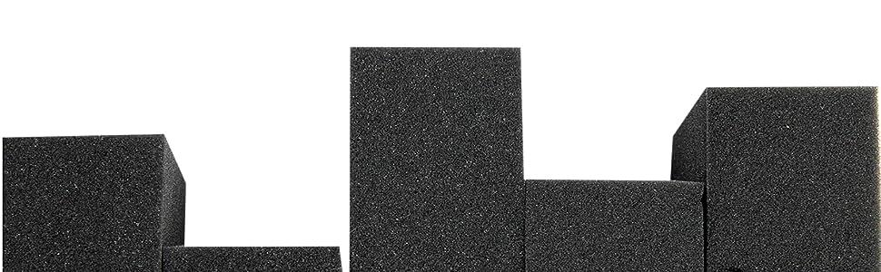 Vindor 5x Universalschwamm Polierschwamm Reinigungsschwamm Schaumstoff Perfekt Für Die Autopolitur Schwarz Auto