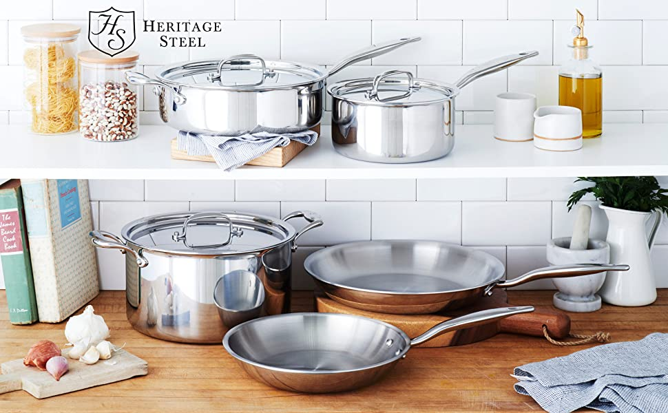 heritage steel cookware made in usa set