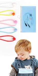 5 pcs adjustable mask lanyard for kids with a mask storage bag
