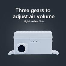 Three gears to adjust air volume