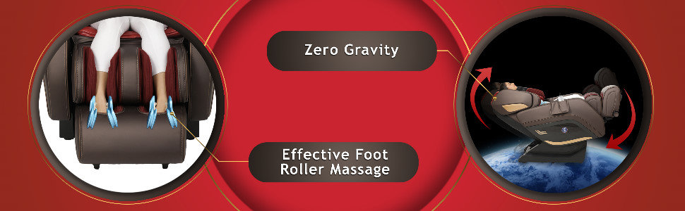 zero gravity massage chair recliner with foot extension