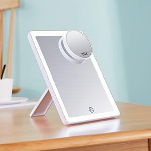 Kosmetikspiegel mit LED LichtSchminkspiegel Beleuchtet mit Blendfreier Bleuchtung für Schminken