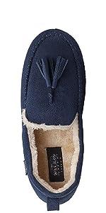 moccassin warm comfy cosy shoes indoor outdoor slippers mule open slip in