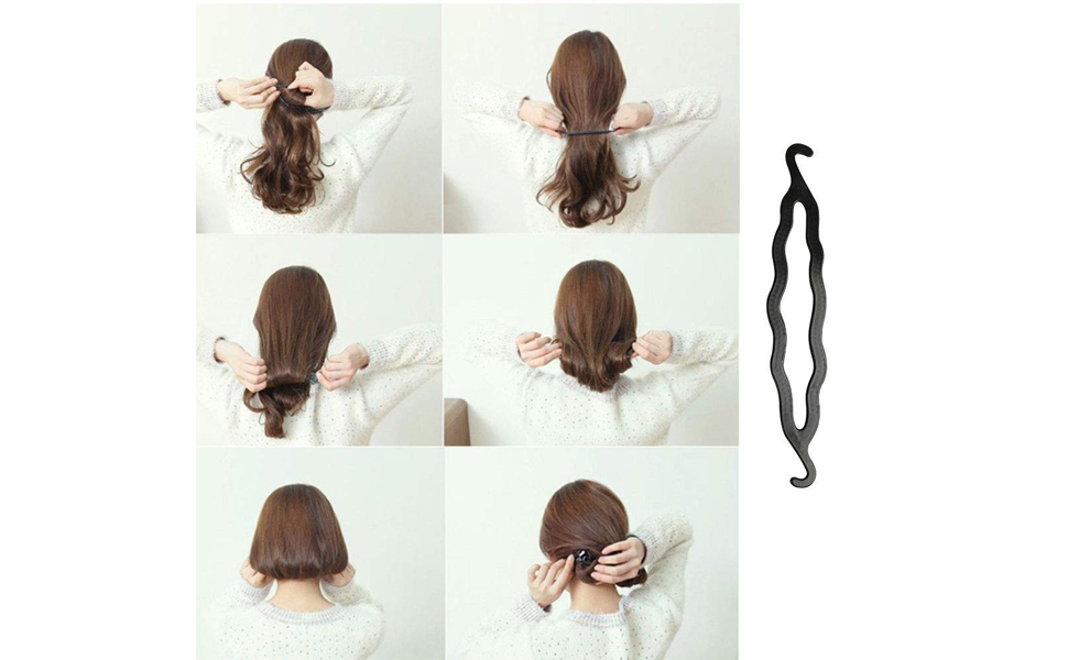 Hair Styling Set, Fashion Hair Design Styling Tools DIY Accessories Modeling Tool Kit Hairdress