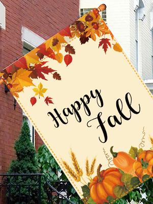 fall welcome garden flag