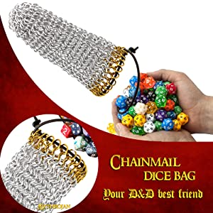 hotofthepliers maille chainmailleartisan dnddicebags dungeonsanddragons5e roleplayinggames