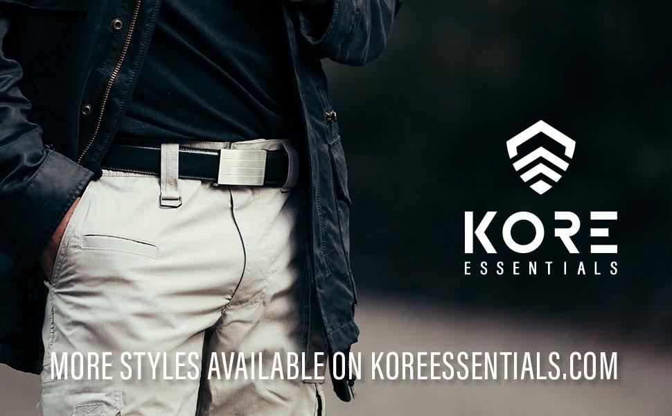 Kore Essentials Men's Full Grain Leather Ratchet Belt