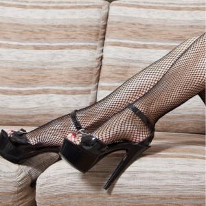 Mila Marutti Fishnet Thigh High Stockings