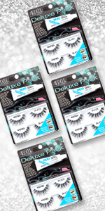 Ardell Lashes Deluxe Pack Kit Wispies, 4 Pack