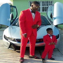 Red, suit, boys, formal, holiday, kids, matching, father and son