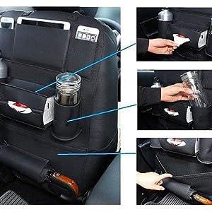 car organizer back seat with tray storage Organizer for Bottles Storage Foldable Pocket multi