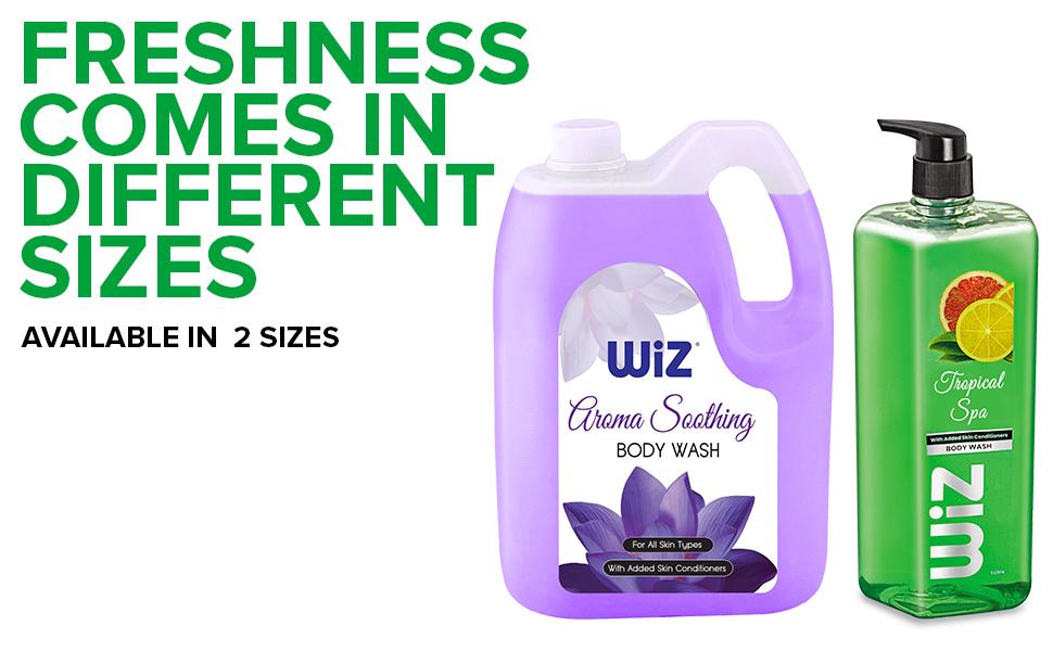 wiz spa body wash daily use shower gel pantry for men women