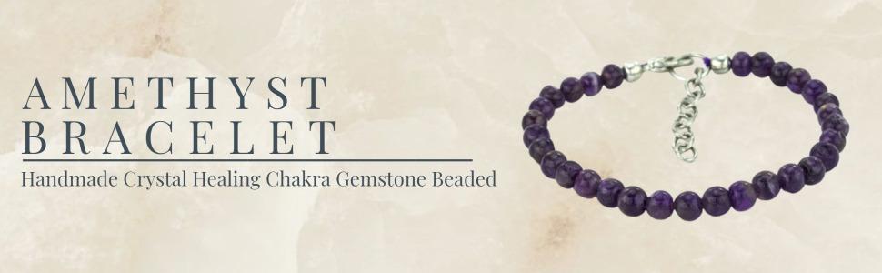 Mystic Self Purple Amethyst Bracelet Fashion Jewelry Gemstone Beaded Crystal Healing Birthstone
