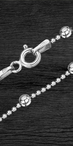 oyería - Collar - Fina Plata De Ley 925 - Cadena de Palomitas de maíz