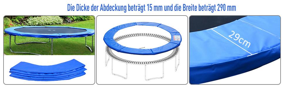 Randafdekking trampoline veiligheidsnet