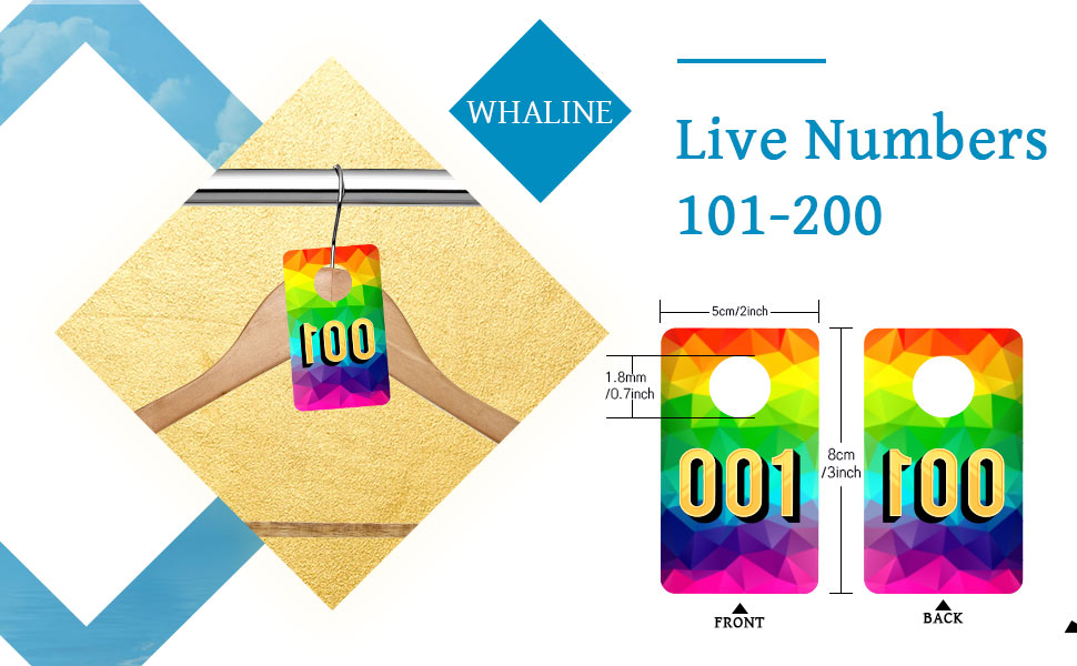 Live Number Tags 001-100