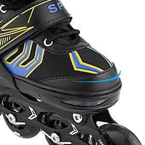 WeSkate Inline-Skates mit blinkenden Rollen Verstellbarer Inline-Skate f/ür Kinder und Erwachsene