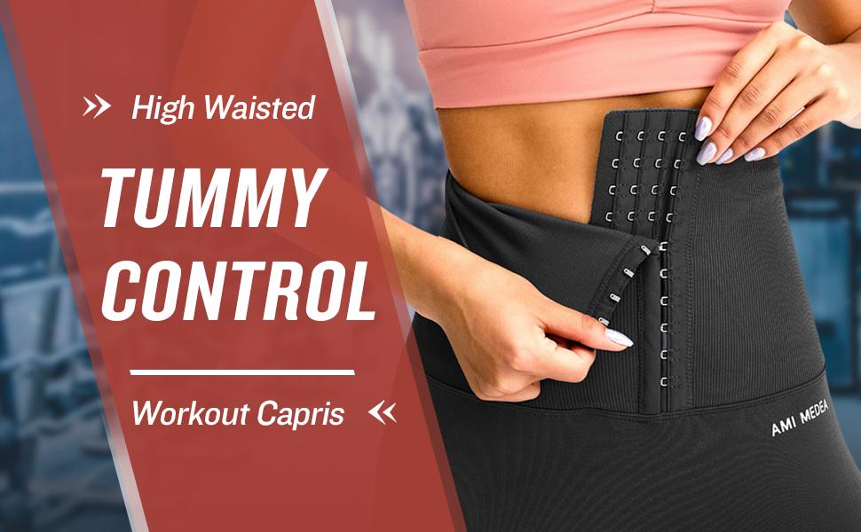Tummy control workout capris
