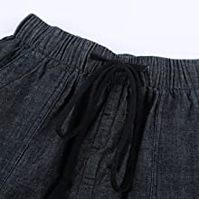 Mid/High-rise elastic waistband for stretchy fit