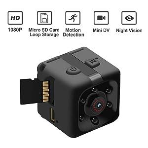 Mini Spy Camera by CFU - Wireless 1080P Hidden Camera - Portable Small HD Nanny Cam