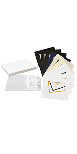golden state art 8x10 for 5x7 double mattes 25 pack with backing board clear bag fit for photo
