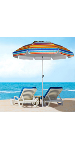 travel portable compact adjustable beach umbrella with sand anchor  vent titltable chair hook TENT