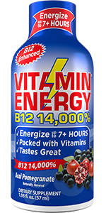 Vitamin Energy Shots Lasts up to 7+ Hours Supports Immune Health  Keto Friendly 0 Sugar  0 Carbs