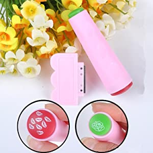 Nail art double sided stamper
