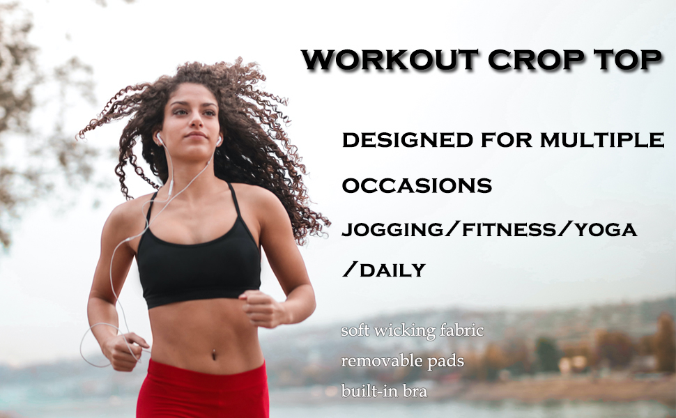 workout crop top for women