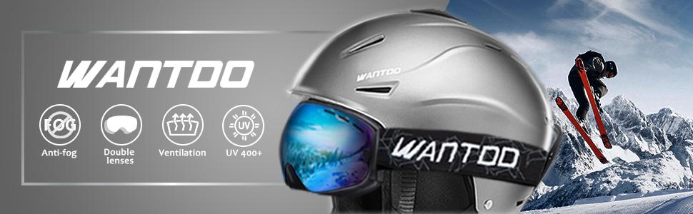Wantdo Anti Fog Ski Goggles