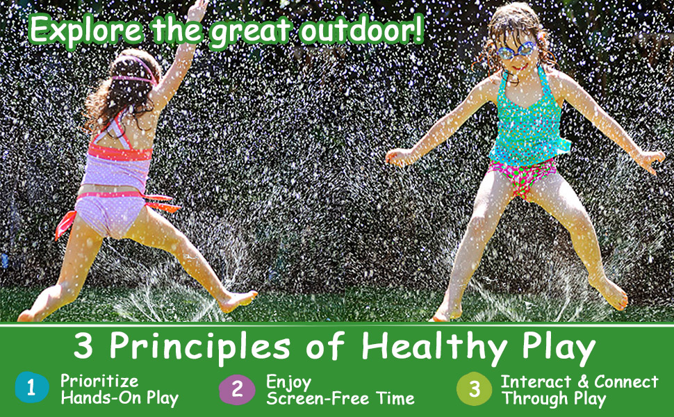3 principles of healthy play in summer screen-free time enjoy summer water fun with family