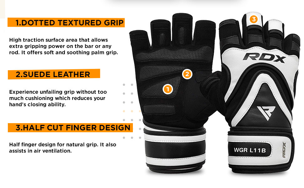 Details about  /RDX Men/'s Weight Lifting Gym Fitness Workout Training Exercise Half Gloves AU