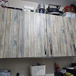 Hode Papel Adhesivo para Muebles Papel Pintado Azul Madera 30cmX2m ...