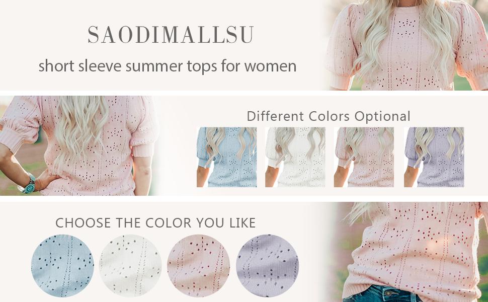 short sleeve knit top shirts summer