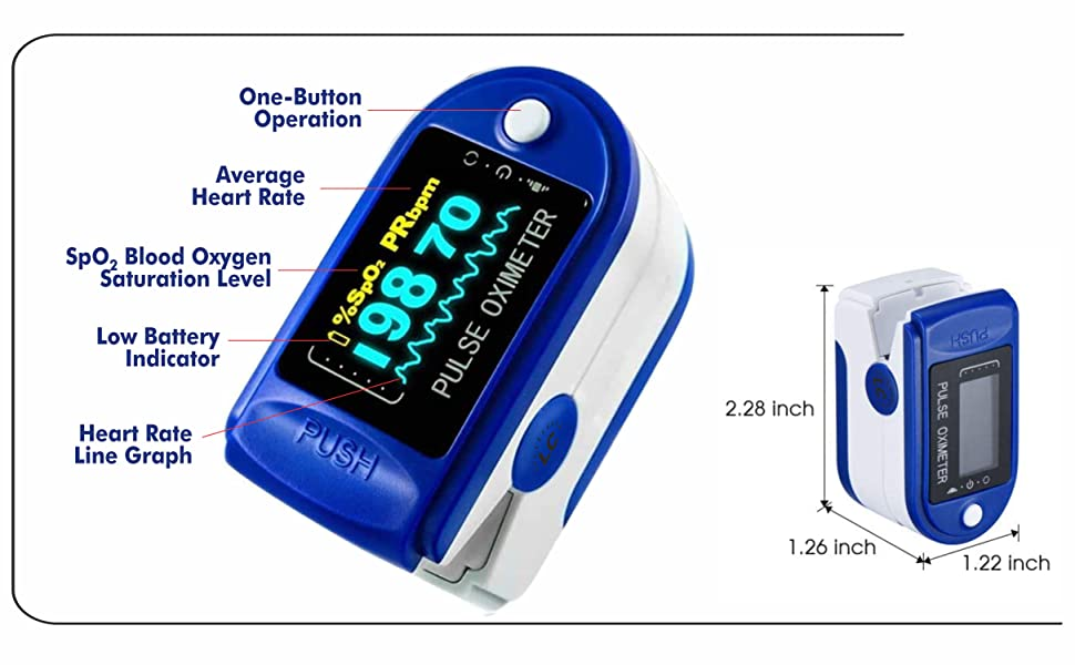 One button Operating Oximeter by Lumino Cielo