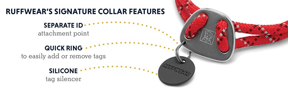 Ruffwear's signature collar features