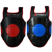 Red scoring zones on one side amp; blue zones on the other. Choose either color side of the vest