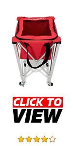 The PowerNet Wheeled Ball Cart can hold more than a 5 gallon bucket for multiple sports!