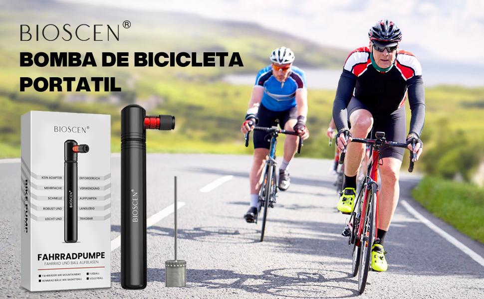 Adapter Erforderlich BMX und Ball Tragbare Luftpumpe Fahrrad f/ür Presta und Schrader Mountainbikes f/ür Rennrad Bioscen Mini Fahrradpumpe 160 PSI Pumpe Fahrrad mit Nadel /& Rahmen