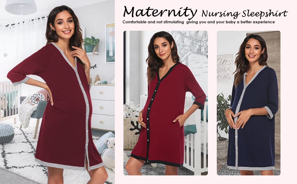 casual nursing gown