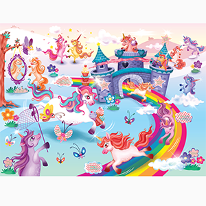 Whimsical magical unicorn puzzle by Chalk and Chuckles. Perfect gift box for girls