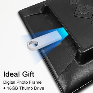 Marco electrónico de fotos digital de 10.0 in, Full HD 1080p, pantalla IPS con sensor de movimiento de regalo