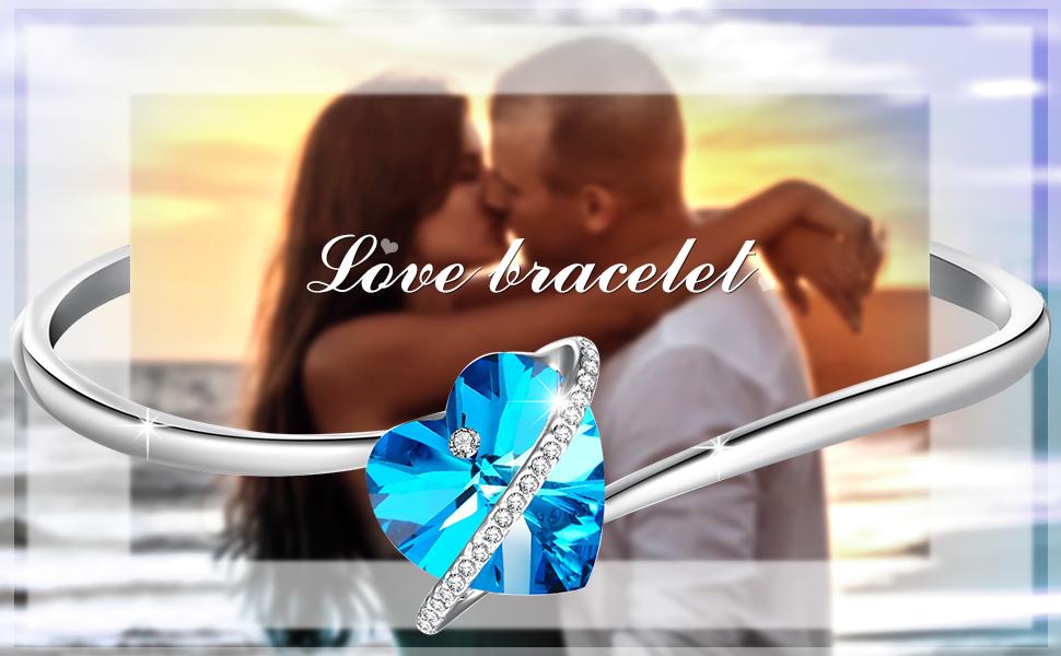 braccialetto cuore blu