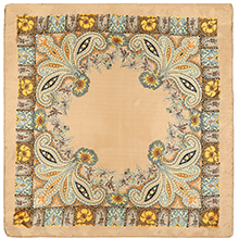Khaki Floral pattern head scarf