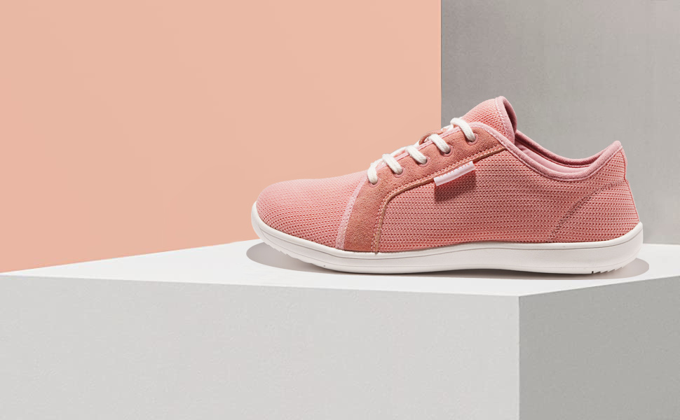 Women's Minimalist Barefoot Sneakers - Arch Support - Lace Up Wide Fit