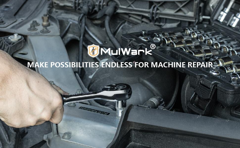 MulWark 64pc Torx Head Socket Bit Set