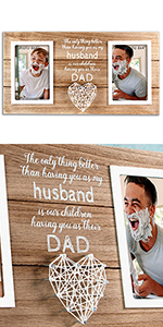 Husband Gifts Wife Him Pregnancy Announcement New Daddy dad father Present Frame Family kids