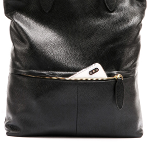 leather women tote bag